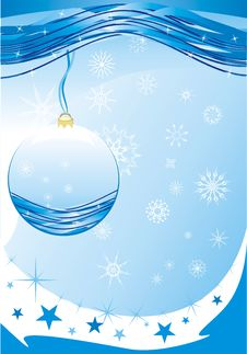 Free Snowflakes And Christmas Ball Royalty Free Stock Images - 10204519