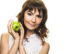 Free Woman With Apple Royalty Free Stock Images - 10205909