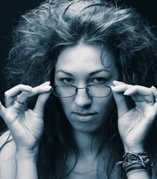 Free Young Woman With Glasses Royalty Free Stock Photography - 10206007