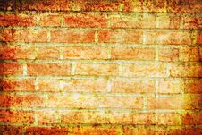 Free Abstract Brick Wall Grunge Background Royalty Free Stock Photo - 10206135
