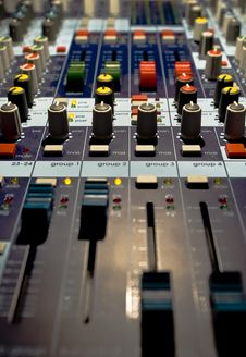 Sound Producer Mixer Royalty Free Stock Images