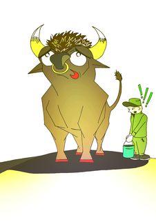 Free Bull Royalty Free Stock Image - 10207196