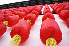 Free Red Lanterns Hang Up Stock Photos - 10207573