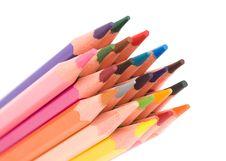 Free Color Pencils Royalty Free Stock Photos - 10208098