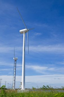 Wind Turbine Generator In Country Of Thailand Stock Image