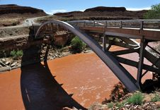 Free Bridge Over San Juan River - Mexican Hat Stock Images - 10209344