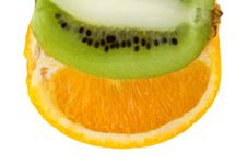 Orange And Kiwi Royalty Free Stock Photo