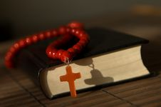 Free Bible With Red  Cross Royalty Free Stock Image - 10209696
