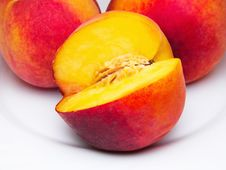 Free Three Juicy Peaches Stock Images - 10209744