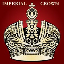 Imperial Crown Red Stock Photo