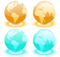 Free Earth Over Continents. Royalty Free Stock Photos - 10211068