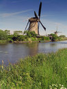 Free Dutch Windmill At Kinderdijk Stock Images - 10215644