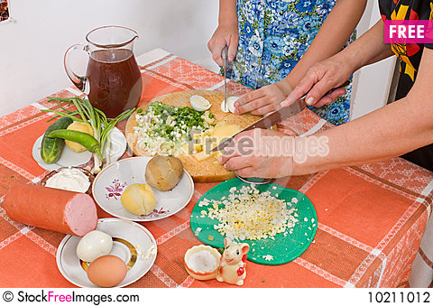 Free Prepare Salad. Stock Photography - 10211012