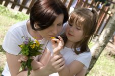 Free Happy Mum And Her Small Daughter Stock Image - 10210541