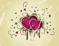 Retro Background With Heart Royalty Free Stock Photos