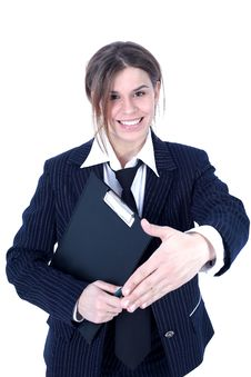 Free Friendly Businesswoman Royalty Free Stock Photography - 10210797