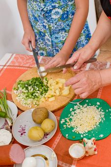 Free To Prepare Salad. Stock Photo - 10210970