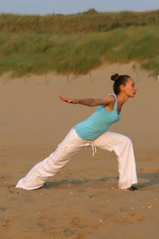 Free Workout On The Beach Stock Photography - 10211312