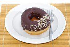 Free Donut Tea Break Royalty Free Stock Photography - 10211457