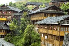 Chinese Village Near Guilin Stock Photos