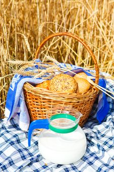 Free Bread And Milk Jug Royalty Free Stock Photography - 10212287