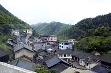 Chinese Village Near Guilin Royalty Free Stock Image