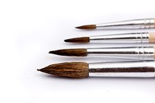 Free Paintbrushes In Various Sizes Stock Photography - 10213242