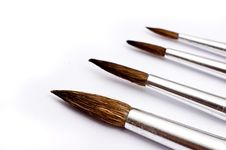 Paintbrushes In Various Sizes Stock Images
