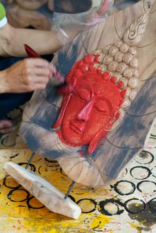 Free Painting A Buddha Image Stock Photo - 10213700