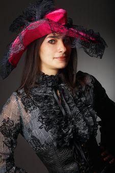 Free Beautiful Woman In Pink Hat Stock Image - 10213701