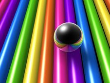 Rainbow Style Ball Royalty Free Stock Photos