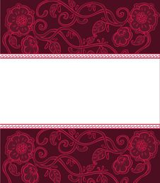 Free Floral Banner Royalty Free Stock Photos - 10214438