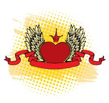 Heart With Wings Royalty Free Stock Photo