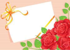 Card Roses Stock Photography