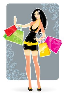 Free Shopping Girl Stock Images - 10214554