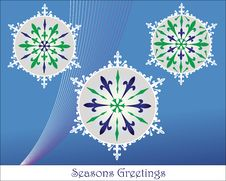Free Christmas Baubles Snowflake Framed Royalty Free Stock Images - 10214739