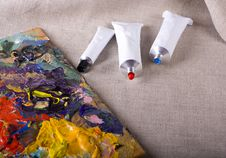 Free Paint Tubes Stock Image - 10214821