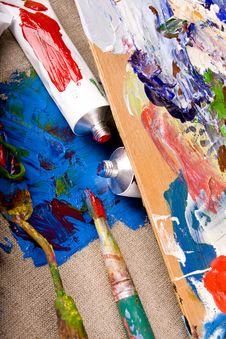 Free Paint Tubes Royalty Free Stock Images - 10215109