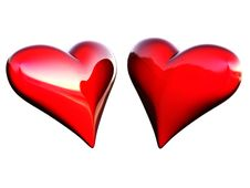 Free Two Hearts Stock Photography - 10215342
