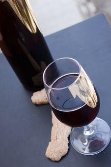 Free Wine At Table Stock Photography - 10216062