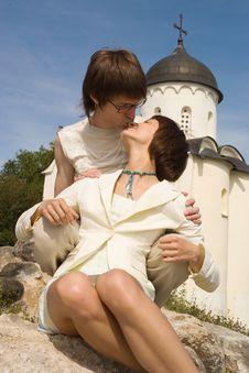 Free Boy And Girl At A Church Stock Image - 10217231
