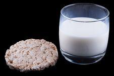 Free Diet Bread With Milk Stock Photo - 10217500