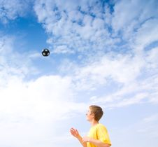 Free Flying Ball Stock Image - 10217511