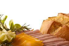 Free Italian Bread With Ham And Cheese Stock Photography - 10217702