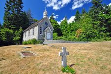 Free Old Small Stone Church Stock Photography - 10218652