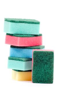Free Stack Of Colorful Cleaning Sponges Stock Photos - 10218833