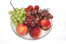 Fruits On Dish Stock Photography