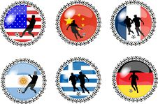 Free Set Of Soccer Buttons 1 Stock Image - 10219271