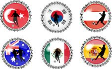 Free Set Of Soccer Buttons 4 Stock Photos - 10219293