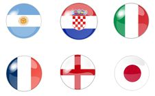 Free Set Of Buttons With Flag 1 Royalty Free Stock Photo - 10219365